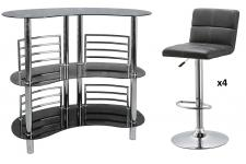 Ensemble Bar design et 4 Tabourets de bar PILOO SoFactory