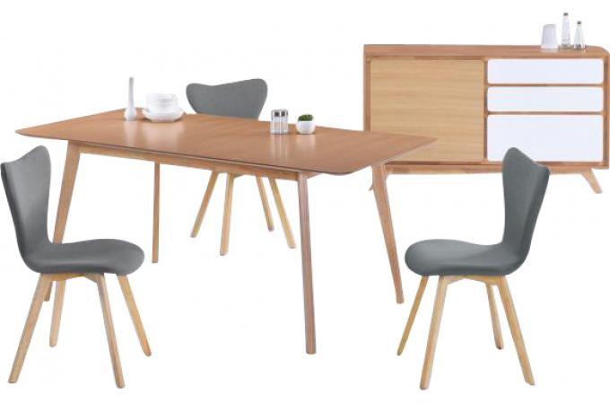 Table scandinave extensible maison design for Table 90 extensible