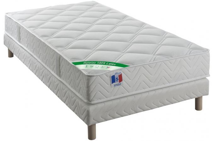 ensemble matelas 100 latex 2 faces cm 90x190 cm et. Black Bedroom Furniture Sets. Home Design Ideas