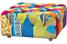 Pouf Carré Patchwork Multicolore JOAO
