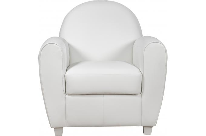 fauteuil club blanc patricia design sur sofactory. Black Bedroom Furniture Sets. Home Design Ideas