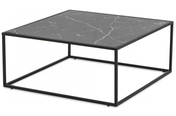 table basse plateau effet marbre noir matrix design sur sofactory. Black Bedroom Furniture Sets. Home Design Ideas
