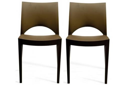 Lot de 2 Chaises Design Marron NAPOLI SoFactory