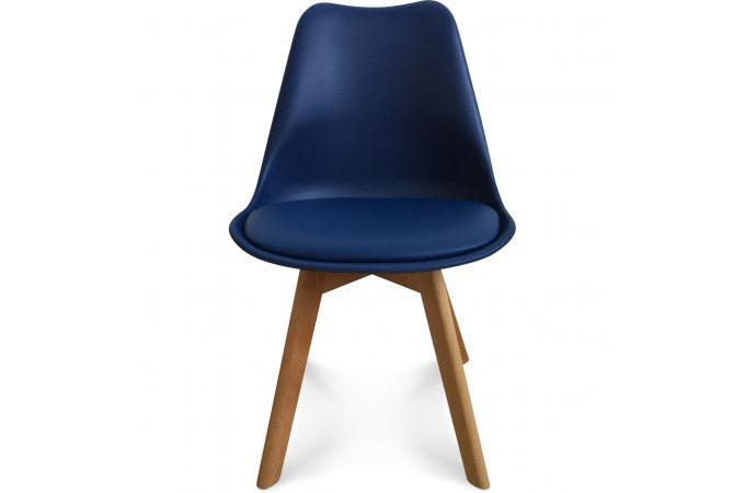 chaise design style scandinave bleu marine sweden - Chaise Scandinave Bleu
