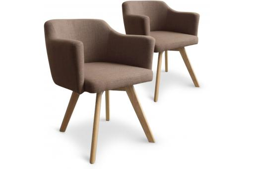 Lot De 2 Fauteuils Scandinaves Taupe TEIKI SoFactory