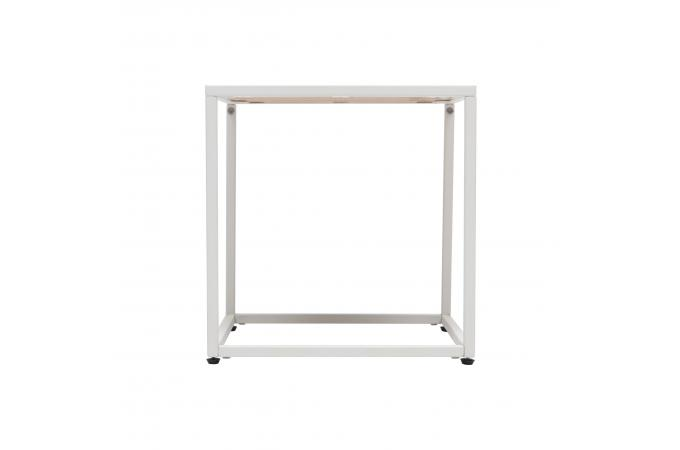 table d 39 appoint carr e bois m tal blanc 40x40cm suram design sur sofactory. Black Bedroom Furniture Sets. Home Design Ideas