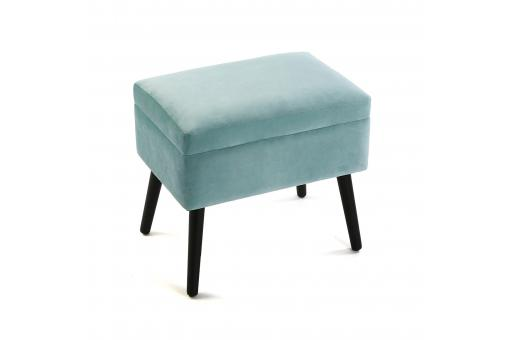 Coffre Pouf Carré Velours Turquoise REYES SoFactory