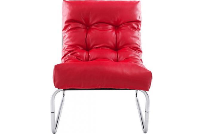 fauteuil design capitonn rouge naco design sur sofactory. Black Bedroom Furniture Sets. Home Design Ideas
