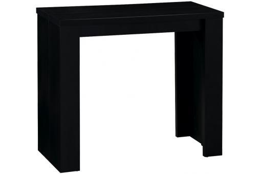 Console extensible noire 190cm mat brooklyn design sur - Table console extensible noir ...