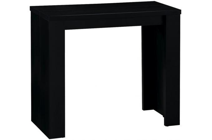 Console Extensible Noire 190cm Mat Brooklyn Design Sur Sofactory
