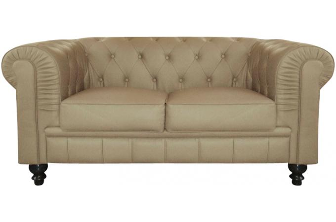 Canap chesterfield simili taupe capitonn 2 places playa - Avis confort canape chesterfield ...