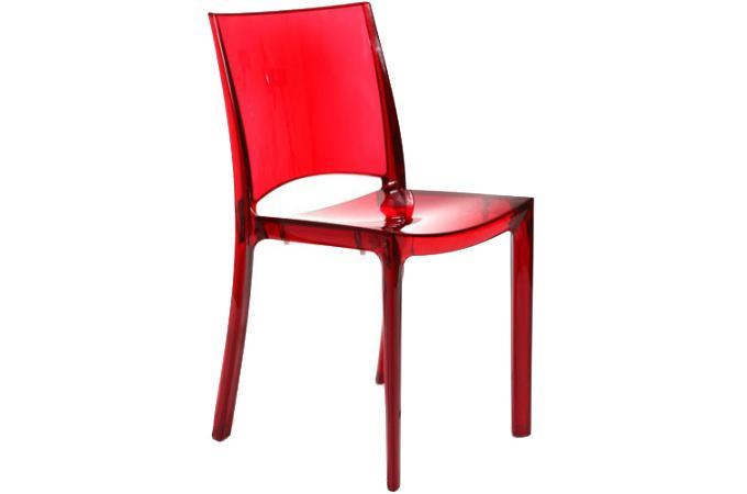 Chaise design rouge transparent sommet design en direct de l 39 usine sur sofactory for Chaise factory rouge