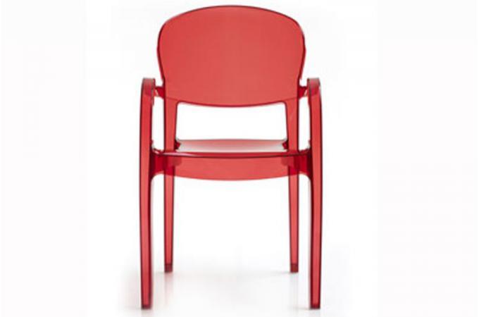 chaise rouge transparente victoria design sur sofactory. Black Bedroom Furniture Sets. Home Design Ideas
