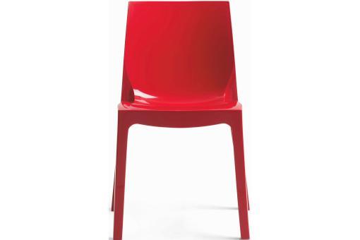 chaise design rouge laqu e vienne design sur sofactory. Black Bedroom Furniture Sets. Home Design Ideas