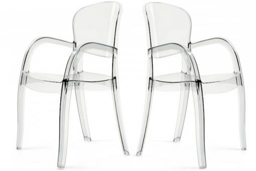 Lot de 2 Chaises Transparentes VICTORIA