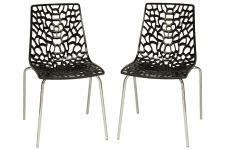 Lot de 2 Chaises Anthracites TRAVIOLA