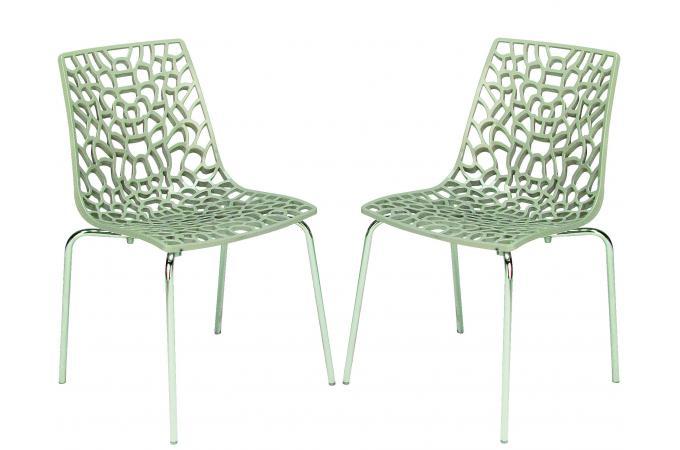 lot de 2 chaises transparentes jute traviola design sur sofactory. Black Bedroom Furniture Sets. Home Design Ideas