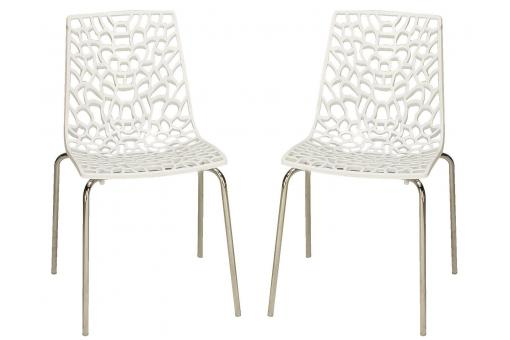 Lot de 2 Chaises Blanches TRAVIOLA