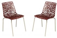 Lot de 2 Chaises Rouges TRAVIOLA Sofactory
