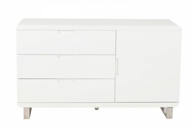 Meuble Laqué Blanc 3 Tiroirs Phoebe Design Sur Sofactory