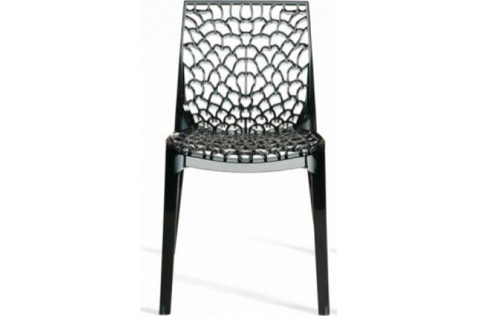 Chaise Design Gris Transparent FILET
