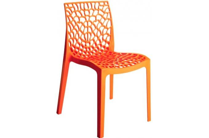 chaise design orange opaque filet design sur sofactory