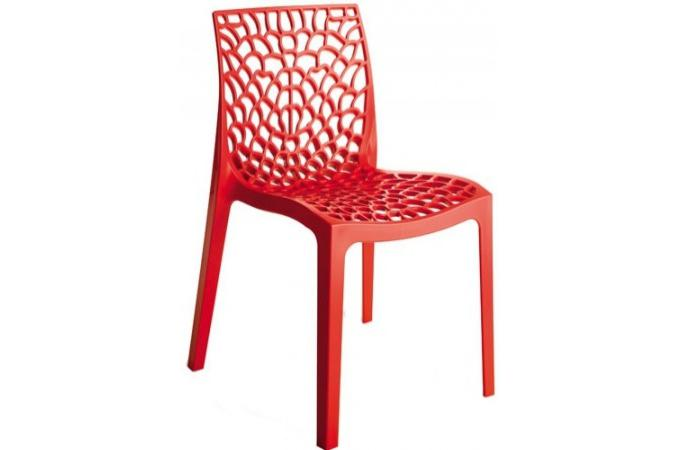 Chaise Design Rouge FILET SoFactory
