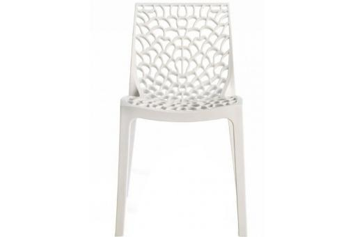 Chaise Design Blanche Opaque FILET