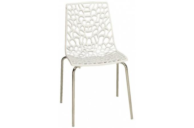 Chaise blanche traviola design sur sofactory for Chaise blanche