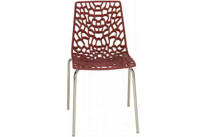 Chaise rouge traviola design en direct de l 39 usine sur sofactory for Chaise factory rouge