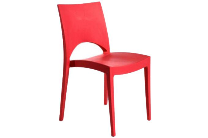 Chaise design rouge napoli design sur sofactory - Chaise rouge design ...