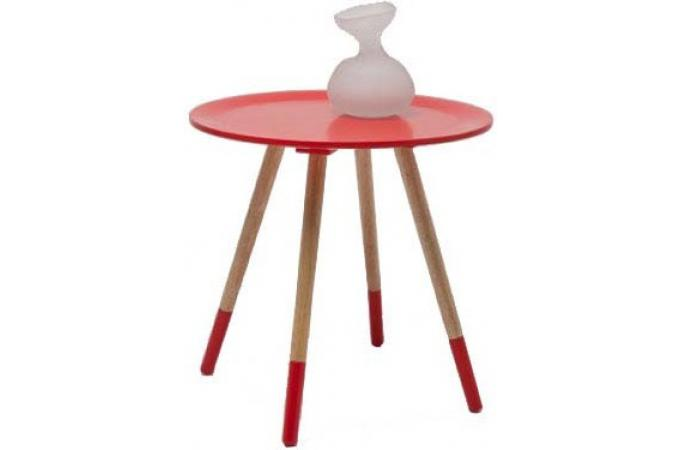 Table d'appoint 4 pieds Rouge STARK