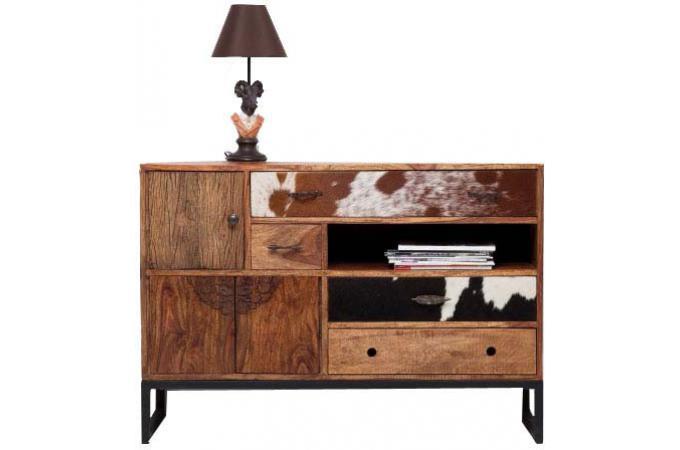 Commode 7 rangements bois design pas cher sur sofactory - Commode en bois pas cher ...