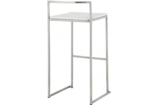Tabouret de bar blanc JAMES KO52362-0000