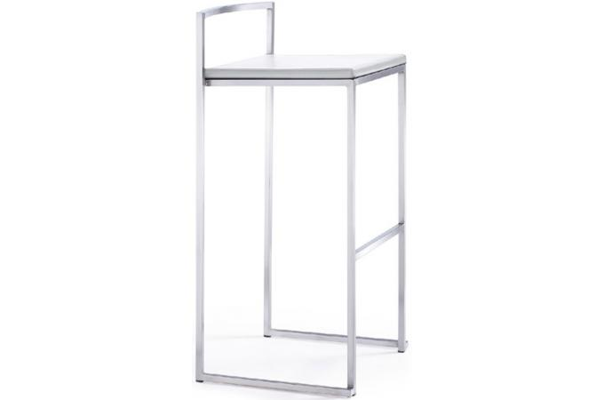 Tabouret de bar blanc JAMES