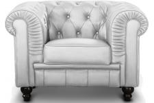 Fauteuil Chesterfield Argent SIR SoFactory
