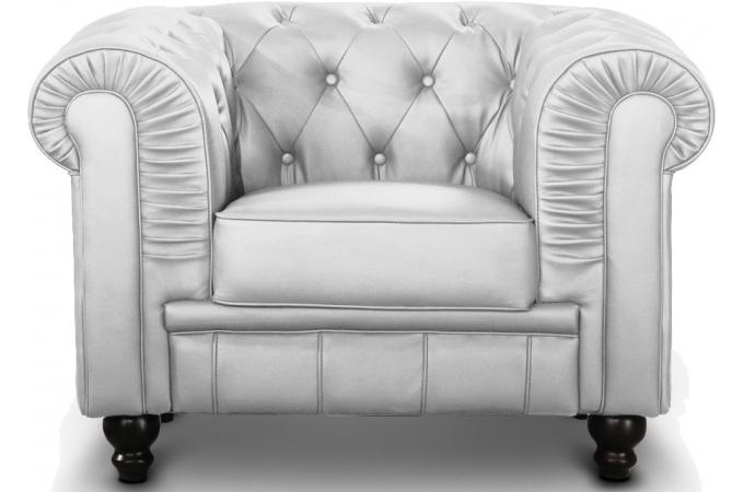 Fauteuil Chesterfield Argent SIR