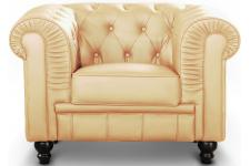 Fauteuil Chesterfield Beige SIR