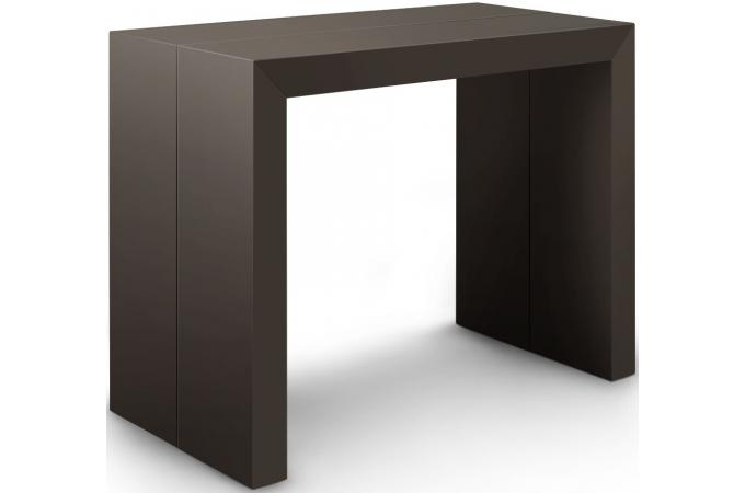Table console extensible xl gris carbone louisville design pas cher sur sofac - Console extensible gris ...
