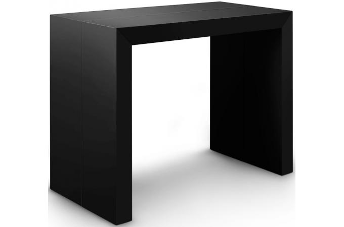 table console extensible xl noir carbone louisville design en direct de l 39 usine sur sofactory. Black Bedroom Furniture Sets. Home Design Ideas