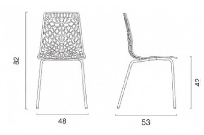 Chaise design tranparente chocolat traviola design pas cher sur sofactory - Chaise gruyere transparente ...