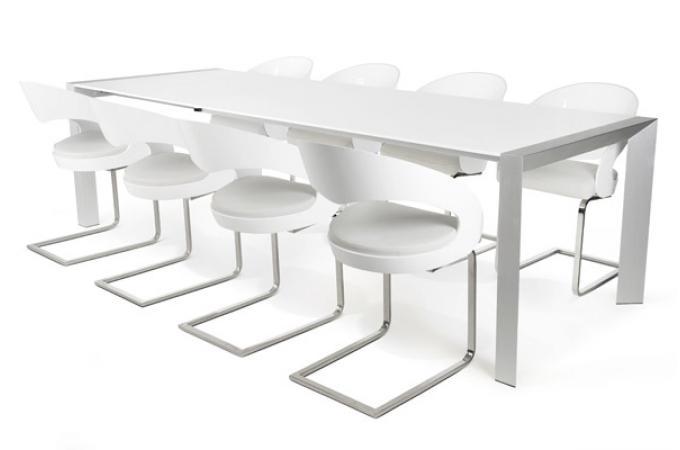 Table manger blanche paula design sur sofactory - Table a manger blanche ...
