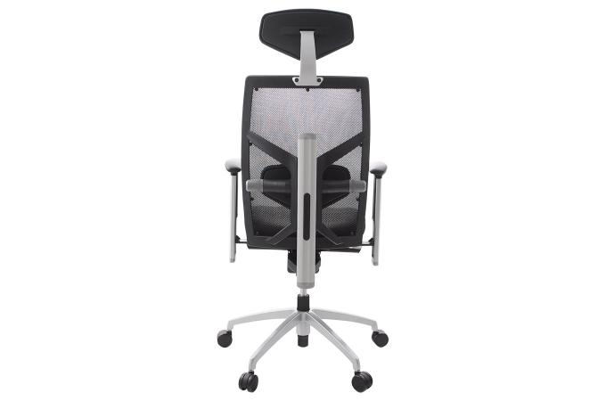 Chaise de bureau noire assise cuir michel design sur sofactory