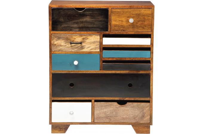 commode multicolore plaqu bois robin design sur sofactory. Black Bedroom Furniture Sets. Home Design Ideas
