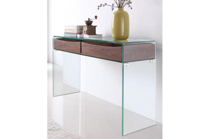 Console design en verre et bois hearts design en direct de - Console meuble design ...