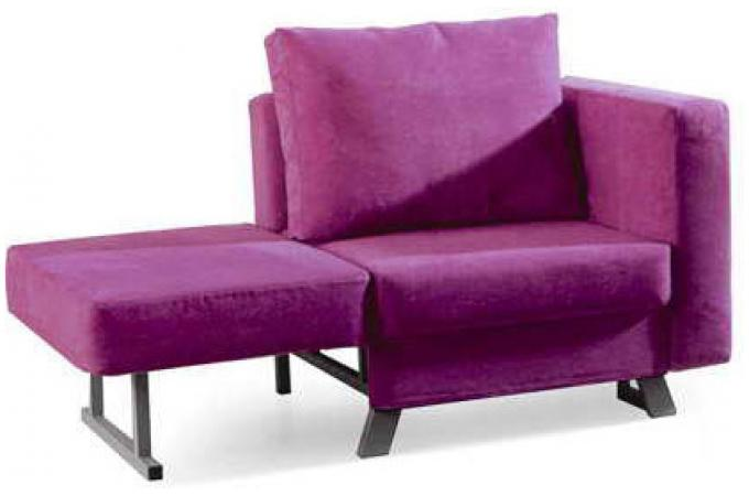Fauteuil convertible 1 place multi rose lima design en - Convertible une place ...