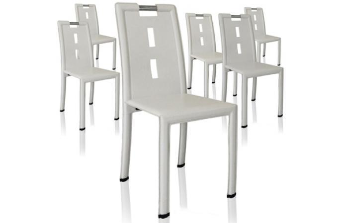 Lot de 4 chaises design blanches thanks design pas cher sur sofactory - Chaises blanches design ...