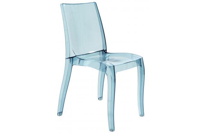 Chaise transparente grise greece design pas cher sur sofactory - Chaise transparente grise ...