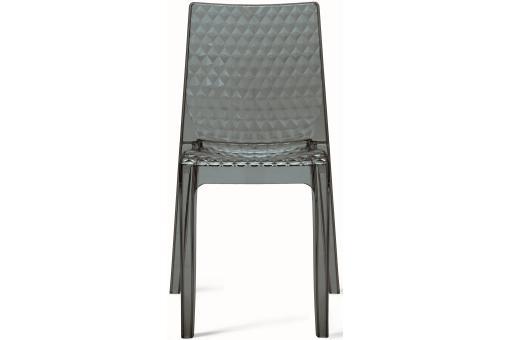 chaise transparente grise delphine design sur sofactory. Black Bedroom Furniture Sets. Home Design Ideas