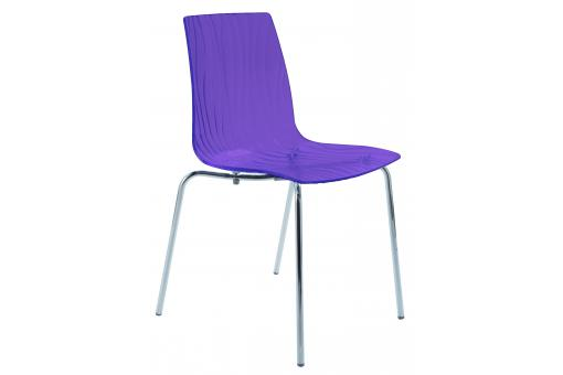 chaise design transparente violette arc design sur sofactory